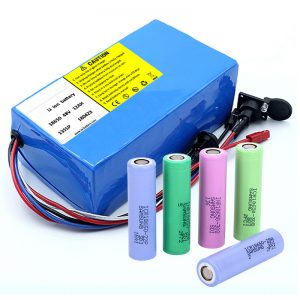 Lithium Battery 18650 48V 12AH 48V 500W Electric Bike Battery with BMS