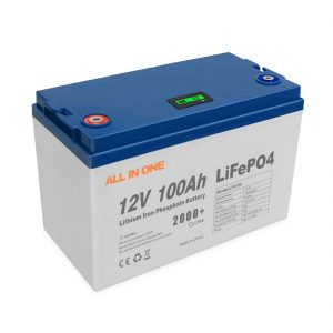 ALL IN ONE Hot Sales Energy Solar Lithium Batteries Storage Software BMS Control Rechargeable Deep Cycle 12V 100Ah LiFePO4 Battery