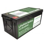 Hot selling 2.56KWh lifepo4 batteri 12v 200Ah 6000 cycles rv battery
