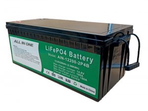 ALL IN ONE 2.56KWh 2000 cycles 12v battery lifepo4 200ah lithium pack for electric vehicle
