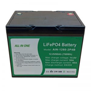 ALL IN ONE Cylindrical 2000 cycles lithium battery 12v60Ah battery pack for energy storag
