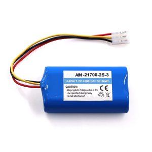 Lithium Battery for flashlight OEM 21700 7.2V 4800mAh Li-ion Pack