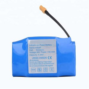 Top selling 36v 4400mah 10s2p hoverboard lithium battery pack