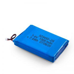 LiPO Rechargeable Battery 523450 3.7V 1000mAH/ 7.4V 1000mAH/3.7V 2000mAH
