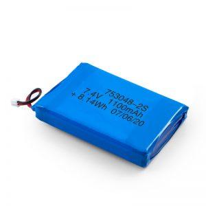 LiPO Rechargeable Battery 753048 3.7V 1100mAh/7.4V 1100mAH/3.7V 2200mAH
