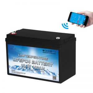 Low Temperature LiFePO4 Battery 12V 100AH
