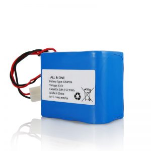 6.4V 12Ah LiFePO4 Recharge Lithium 26650 32650 Battery Pack with Connector for Solar Light